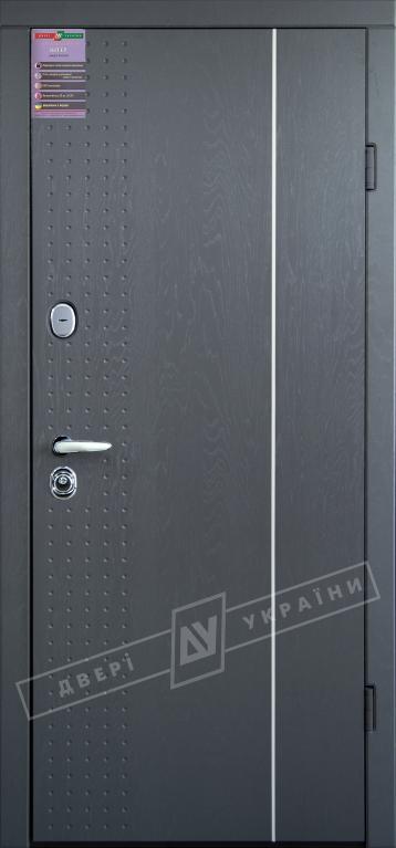 Двери входные серии ИНТЕР / Комплектация №1 [KALE] / МИЛАН / Серая текстура супермат GREY-J3