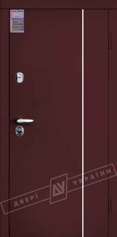Двери входные серии ИНТЕР / Комплектация №3 [MOTTURA] / ЛЕОН 3 / Венге горизонт темное HORI-DARK