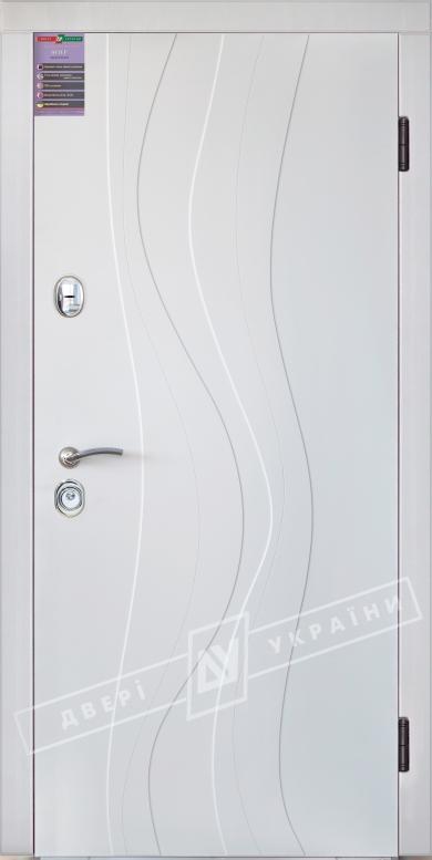 Двери входные серии ИНТЕР / Комплектация №1 [KALE] / ЛАУРА / Белый супермат WHITE_02