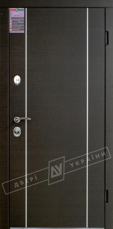 Двери входные серии ИНТЕР / Комплектация №1 [KALE] / МИЛАН / Венге горизонт темное HORI-DARK