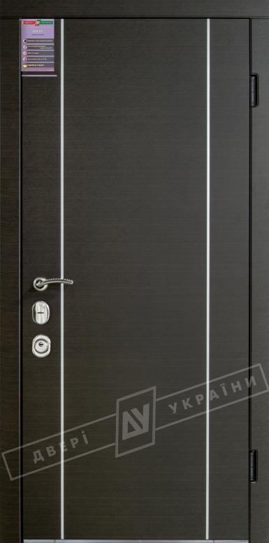 Двери входные серии ИНТЕР / Комплектация №3 [MOTTURA] / МИЛАН / Венге горизонт темное HORI-DARK