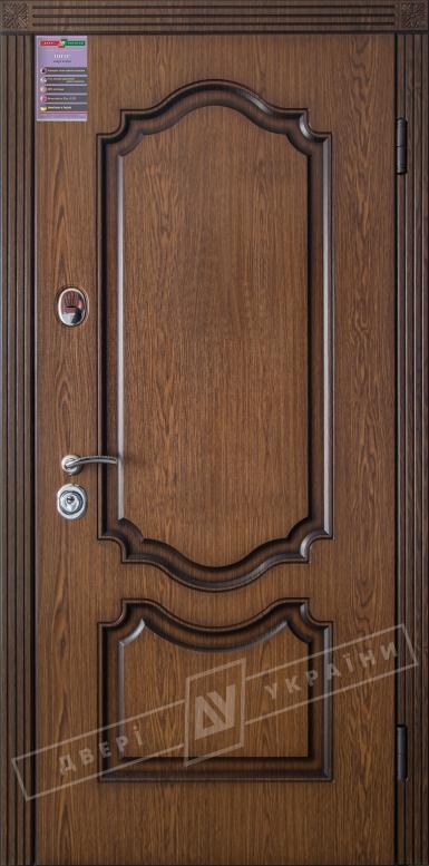 Двери входные серии ИНТЕР / Комплектация №1 [KALE] / МИЛЕНА / Дуб тёмный рустикаль ОАК 0501-2 + ПАТИНА