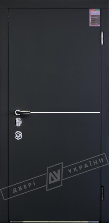 Двери входные серии ИНТЕР / Комплектация №3 [MOTTURA] / МОНАКО / Чёрный софттач RB5013UD-B10-0,35