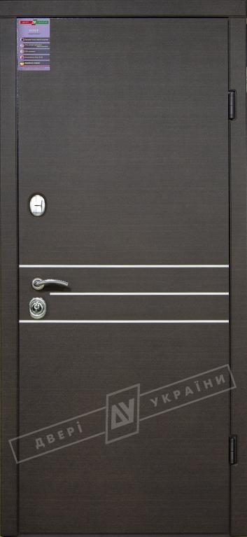 Двери входные серии ИНТЕР / Комплектация №1 [KALE] / ОСАКА / Венге горизонт тёмное HORI-DARK