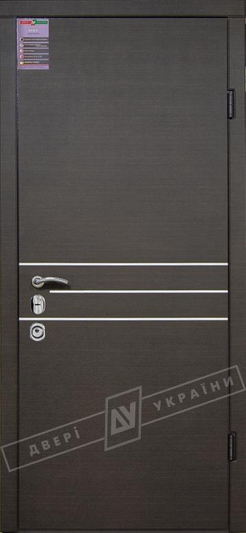 Двери входные серии ИНТЕР / Комплектация №3 [MOTTURA] / ОСАКА / Венге горизонт тёмное HORI-DARK
