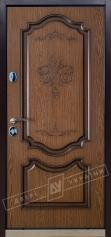 Двери входные серии ИНТЕР / Комплектация №1 [KALE] / ПРЕСТИЖ / Дуб темный рустикаль ОАК 0501-21 + ПАТИНА