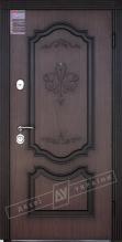 Двери входные серии ИНТЕР / Комплектация №1 [KALE] / ПРЕСТИЖ / Орех светлый (дверная) DE-1880-3 + ПАТИНА