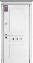 Двери входные серии ИНТЕР / Комплектация №1 [KALE] / ПРОВАНС 3 Кристал / Белый супермат WHITE_02