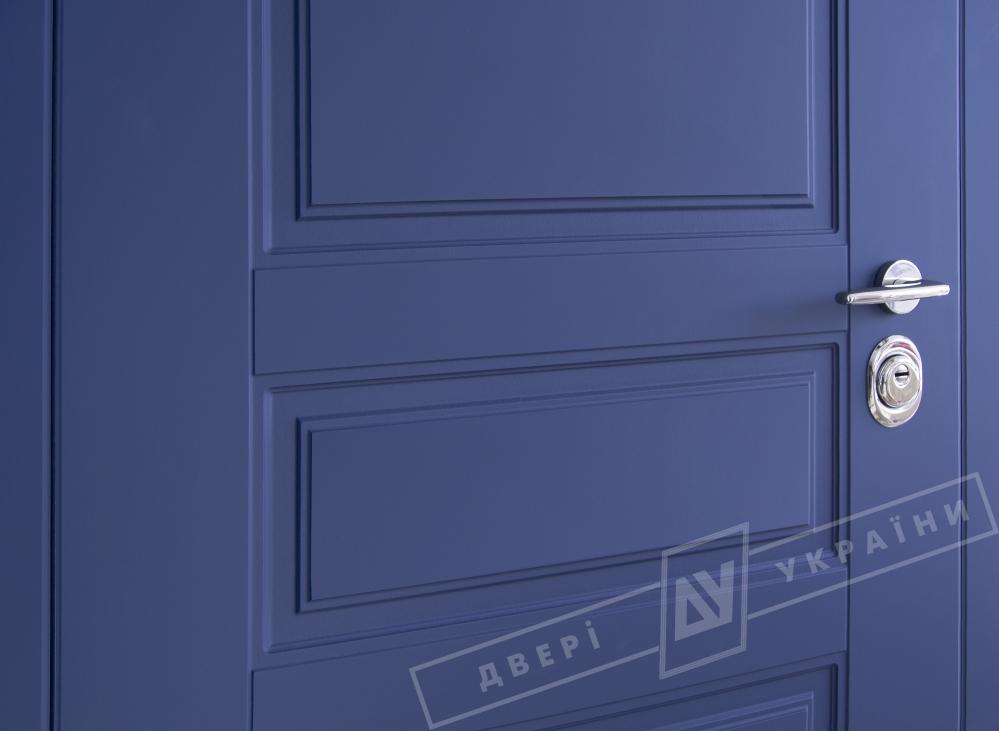 Двери входные серии ИНТЕР / Комплектация №1 [KALE] / ПРОВАНС 3 / Сапфир восточный софттач DHRB 3248UD B10-0,35 / Белый супермат WHITE_02