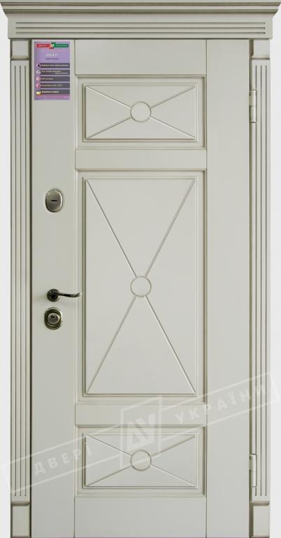 Двери входные серии ИНТЕР / Комплектация №1 [KALE] / ПРОВАНС Декор 4 / Макиато супермат MAKIATO-02