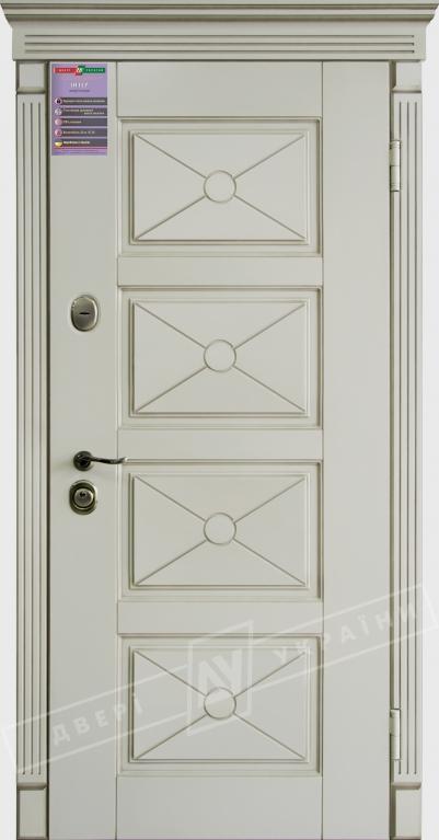Двери входные серии ИНТЕР / Комплектация №1 [KALE] / ПРОВАНС Декор 6 / Макиато супермат MAKIATO-02