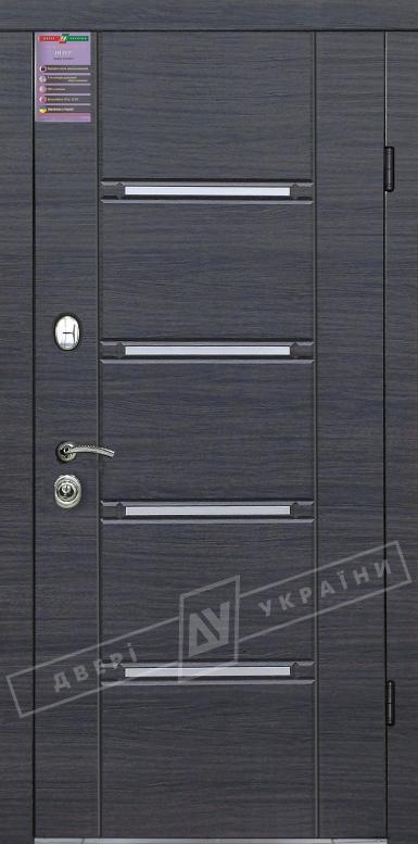 Двери входные серии ИНТЕР / Комплектация №1 [RICCARDI] / СТИЛЬ / Венге серый горизонт 288