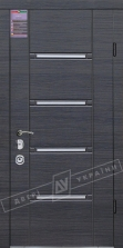 Двери входные серии ИНТЕР / Комплектация №3 [MOTTURA] / СТИЛЬ / Венге серый горизонт 288
