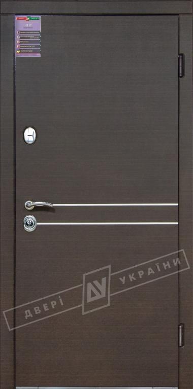 Двери входные серии ИНТЕР / Комплектация №1 [KALE] / ТОКИО / Венге горизонт тёмное HORI-DARK