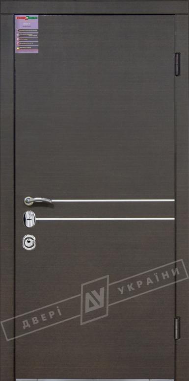 Двери входные серии ИНТЕР / Комплектация №3 [MOTTURA] / ТОКИО / Венге горизонт тёмное HORI-DARK
