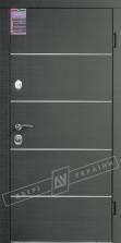 Двери входные серии ИНТЕР / Комплектация №1 [KALE] / ТУРИН Декор / Венге горизонт серое HORI-GREY