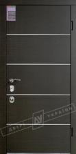 Двери входные серии ИНТЕР / Комплектация №3 [MOTTURA] / ТУРИН Декор / Венге горизонт тёмное HORI-DARK