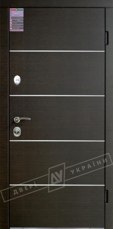 Двери входные серии ИНТЕР / Комплектация №1 [KALE] / ТУРИН Декор / Венге горизонт тёмное HORI-DARK