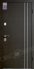 Двери входные серии ИНТЕР / Комплектация №1 [KALE] / ВЕНА Декор / Венге горизонт тёмное HORI-DARK