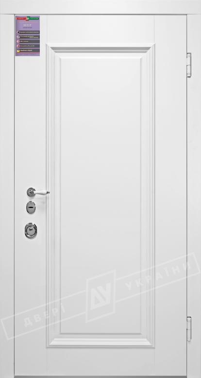 Двери входные серии ИНТЕР / Комплектация №1 [KALE] / ВЕРСАЛЬ 1 / Белый супермат WHITE_02