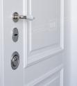Двери входные серии ИНТЕР / Комплектация №1 [KALE] / ВЕРСАЛЬ 5 ПВХ / Белый супермат WHITE_02
