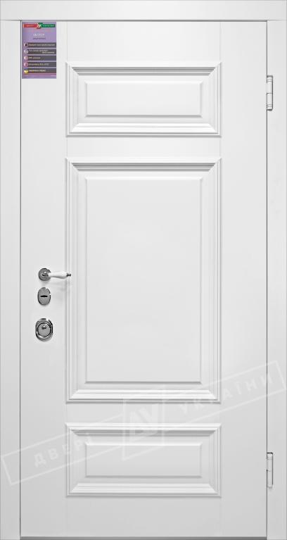 Двери входные серии ИНТЕР / Комплектация №1 [KALE] / ВЕРСАЛЬ 4 / Белый супермат WHITE_02