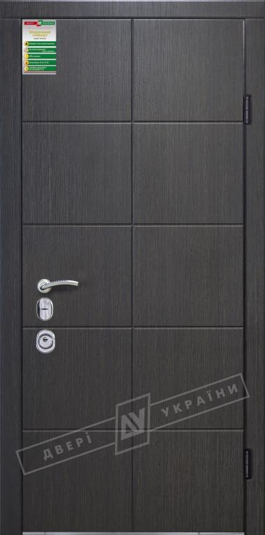 """Двері вхідні внутрішні""""Білоруський стандарт 1/1""""2040*980мм,""""Стиль""""венге сірий горизонт 288Т,ліві"""
