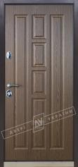 Двери входные серии БС / Комплектация №1 [RICCARDI] / КВАДРО / Дуб темный рустикаль ОАК 0501-21 + ПАТИНА
