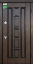 """Двери входные серии """"БС 1"""" / Комплектация №1 [ГАРДИАН] / Модель: КВАДРО / Дуб тёмный рустикальный + ПАТИНА / Дуб тёмный рустикальный"""