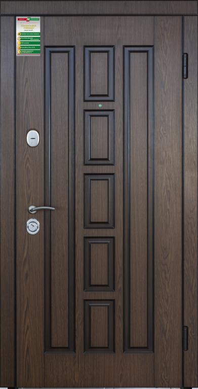 """Двері вхідні внутрішні""""Білоруський стандарт 2/1"""" 2040*880мм,модель Квадро-02 НП,праві"""