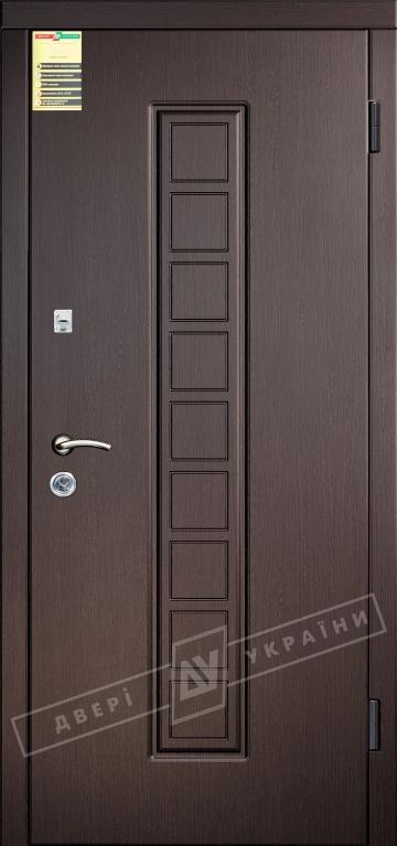 """Двері вхідні внутрішні """"Сіті 1/1"""" 2050*860мм, модель """"Лаура"""" венге южне МВР1998-10, праві."""