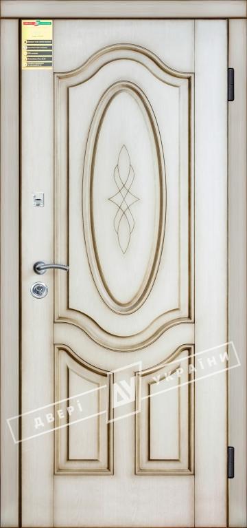 """Двері вхідні внутрішні """"Сіті 1/1"""" 2050*860мм, мод""""Леді"""" дуб Ценамон 1101-07.Тер.+П, праві."""