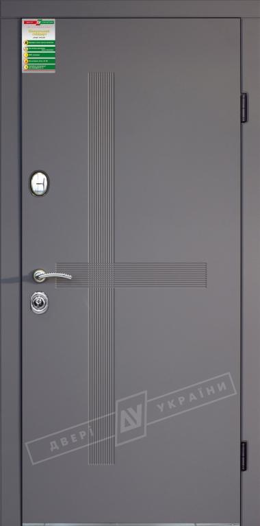 Двері вхідні внутрішніБілоруський стандарт 212040*880мм,Лекс софтач елегант сірий HRВ 9.,праві