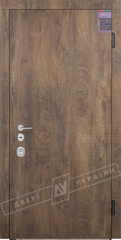 Двери входные серии ИНТЕР / Комплектация №3 [MOTTURA] / ПАНАКОТА / Спил дерева коньячный МВР9187-6 / Белый супермат WHITE_02