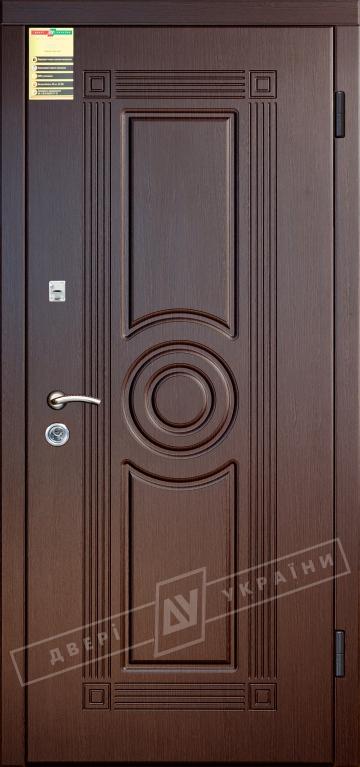 """Двері вхідні внутрішні """"Сіті 1/1"""" 2050*860мм, модель """"Паріс"""" венге южне МВР1998-10, праві."""