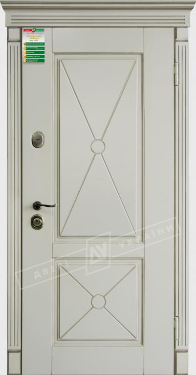 Двери входные серии БС / Комплектация №1 [RICCARDI] / ПРОВАНС 2 Декор / Макиато супермат MAKIATO-02 + ПАТИНА