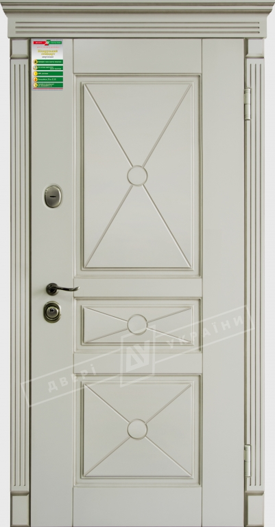 Двери входные серии БС / Комплектация №1 [KALE] / ПРОВАНС Декор 3 / Макиато супермат MAKIATO-02 + ПАТИНА