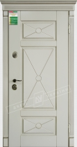 Двери входные серии БС / Комплектация №1 [KALE] / ПРОВАНС 4 Декор / Макиато супермат MAKIATO-02 + ПАТИНА