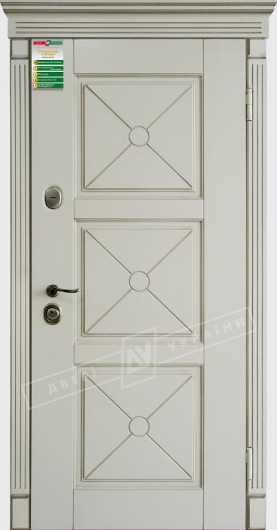 """Двері вхід.внут""""Білоруський станд2/2""""2040*880мм,""""Прованс 5 Декор"""" макіато супермат 02 Тер+П,праві"""