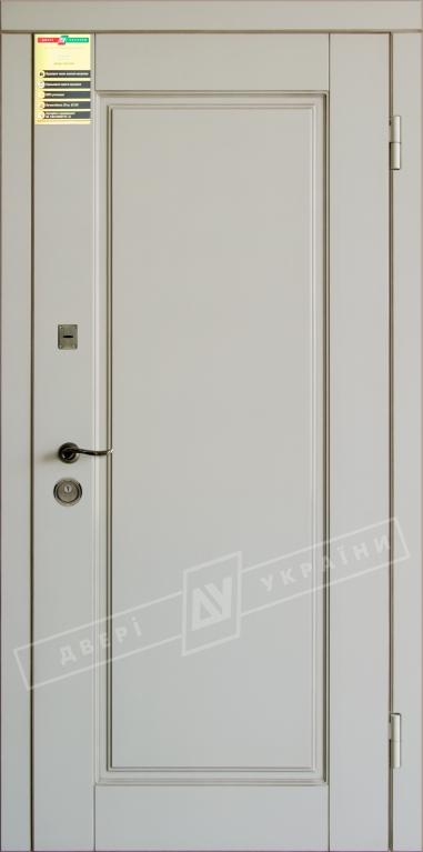 """Двері вхідні внутр, """"Сіті 1/1"""" 2050*860мм, модель """"Прованс 1"""" макіато супермат 02-0,35 Терм, праві."""