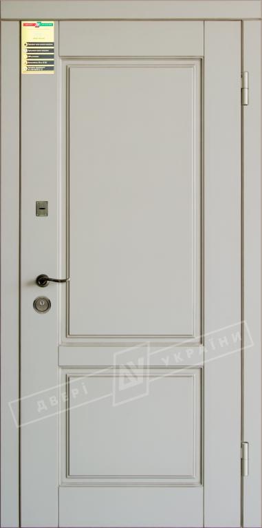 """Двері вхідні внутр, """"Сіті 1/1"""" 2050*860мм, модель """"Прованс 2"""" макіато супермат 02-0,35 Терм, праві."""