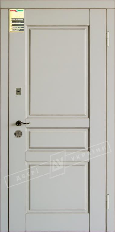 """Двері вхідні внутр, """"Сіті 1/1"""" 2050*860мм, модель """"Прованс 3"""" макіато супермат 02-0,35 Терм, праві."""