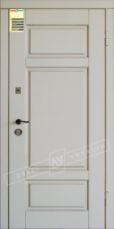 """Двері вхідні внутр, """"Сіті 1/1"""" 2050*860мм, модель """"Прованс 4"""" макіато супермат 02-0,35 Терм, праві."""