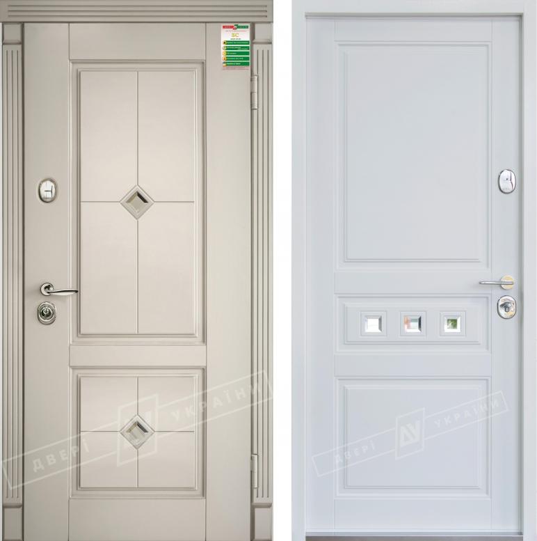 "Двери входные серии ""БС 3"" модель: ПРОВАНС 2 Кристал / ПРОВАНС 3 Кристал / Комплектация №2 KALE / Макиато супермат MAKIATO-02 + ПАТИНА / Белый супермат WHITE_02"