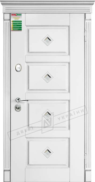 Двери входные серии БС / Комплектация №1 [RICCARDI] / ПРОВАНС 6 Кристал / Белый супермат WHITE_02