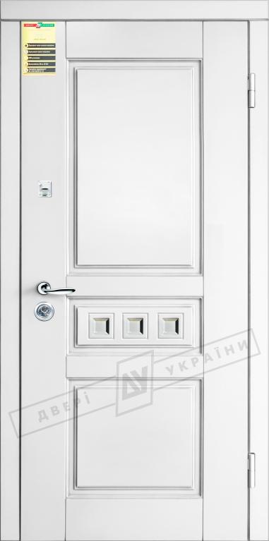 Двери входные серии СИТИ / Комплектация №1 [RICCARDI] / ПРОВАНС 3 Кристал / Белый супермат WHITE_02