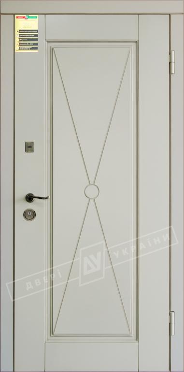"""Двері вхідні внутр,""""Сіті 1/1""""2050*860мм,модель""""Прованс 1 Декор"""" макіато супермат02-0,35 Терм,праві."""