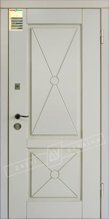 Двері вхідні внутр,Сіті 112050*860мм,модельПрованс 2 Декор Макіато супермат02-0,35 Терм,праві.