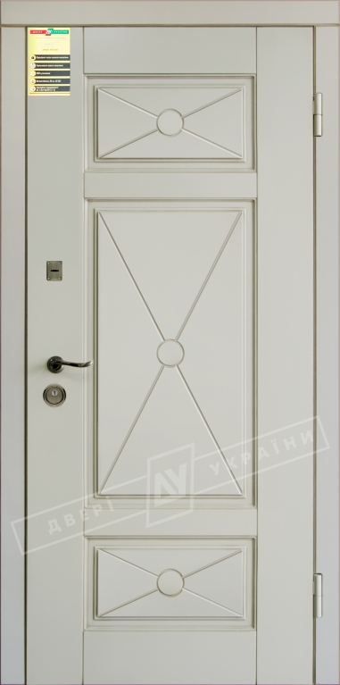 Двері вхідні внутр,Сіті 112050*860мм,модельПрованс 4 Декор Макіато супермат02-0,35 Терм,праві.