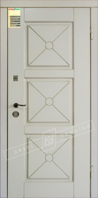 """Двері вхідні внутр,""""Сіті 1/1""""2050*860мм,модель""""Прованс 5 Декор"""" макіато супермат02-0,35 Терм,праві."""